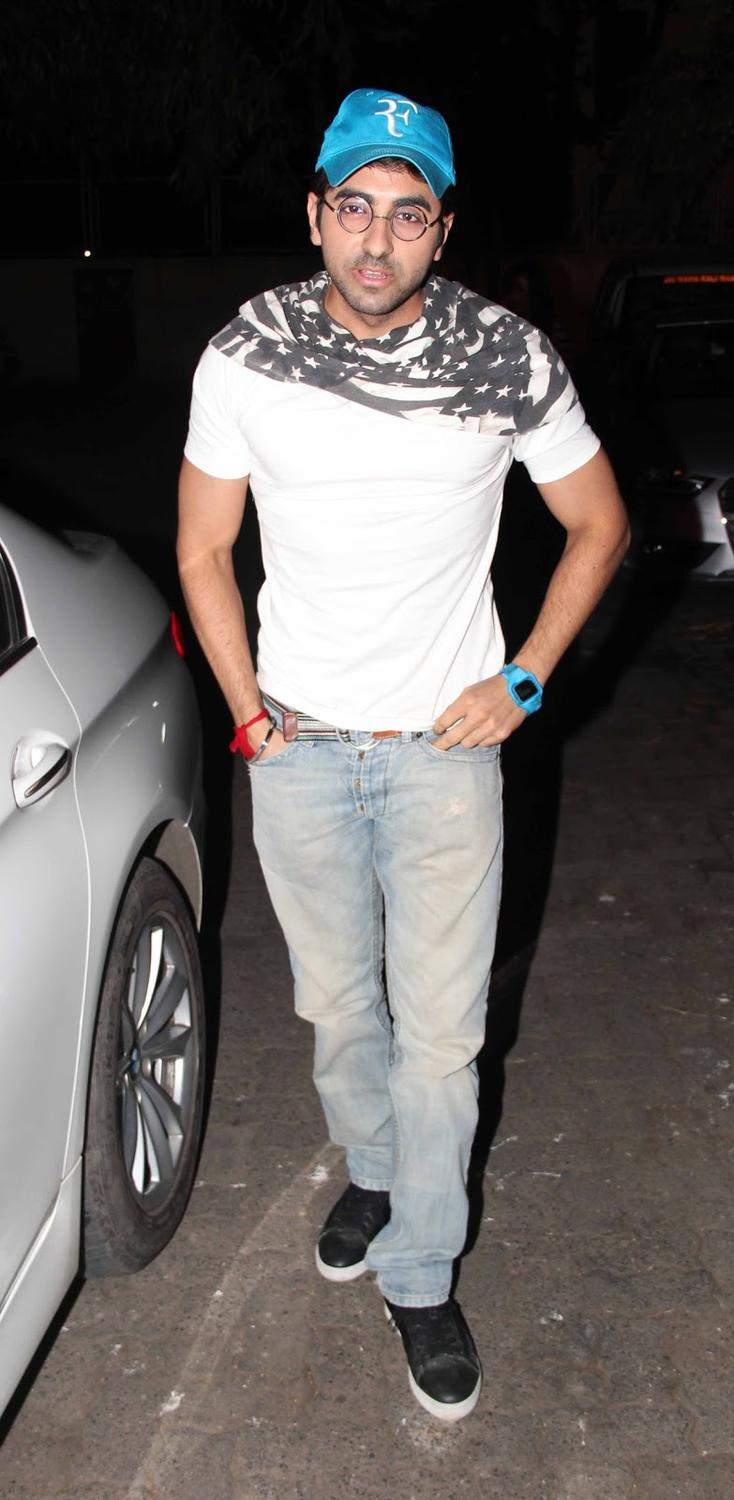 Ayushmann Cute Cool Look Pic At The Special Screening Of Madras Cafe