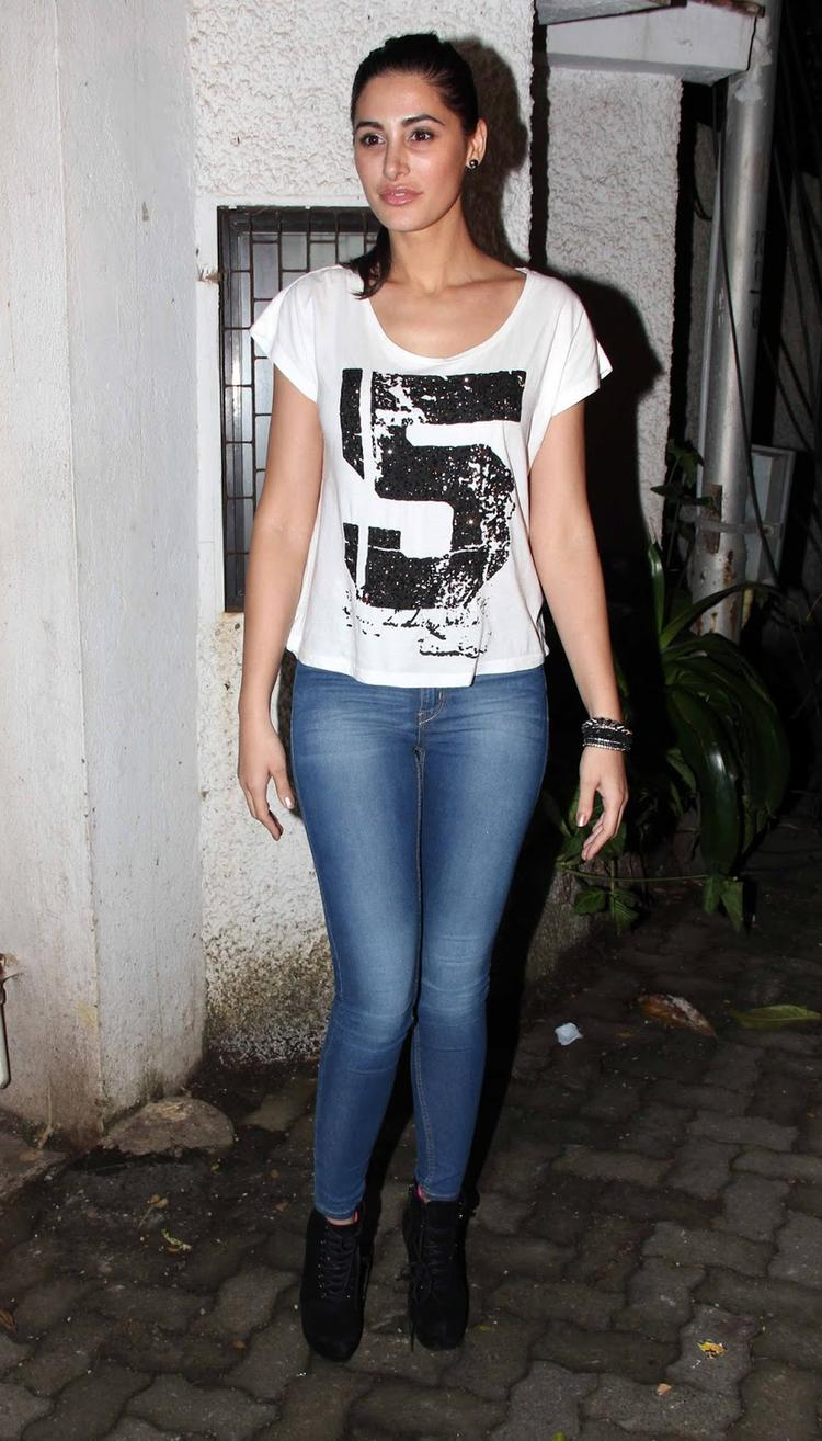 Nargis Fakhri Attended Her Flick The Special Screening Of Madras Cafe