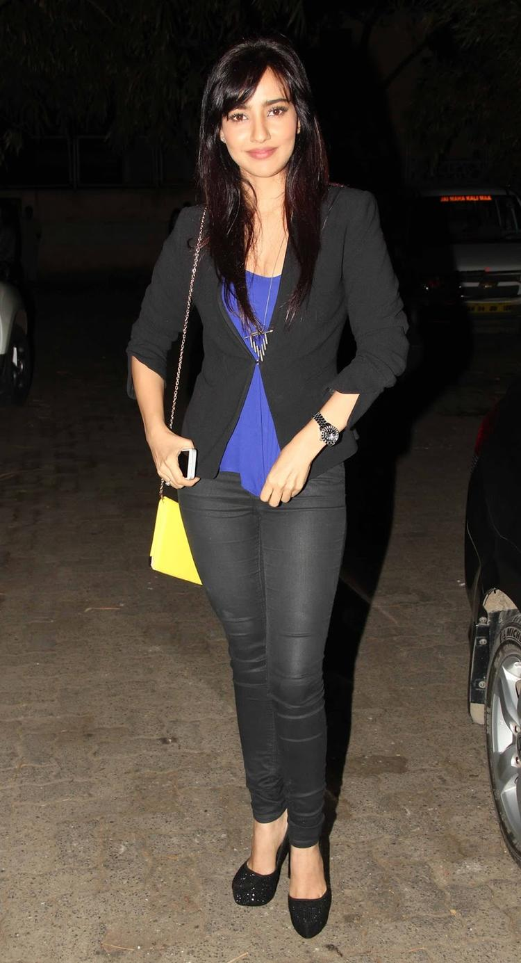 Neha Sharma Snapped At The Special Screening Of Madras Cafe