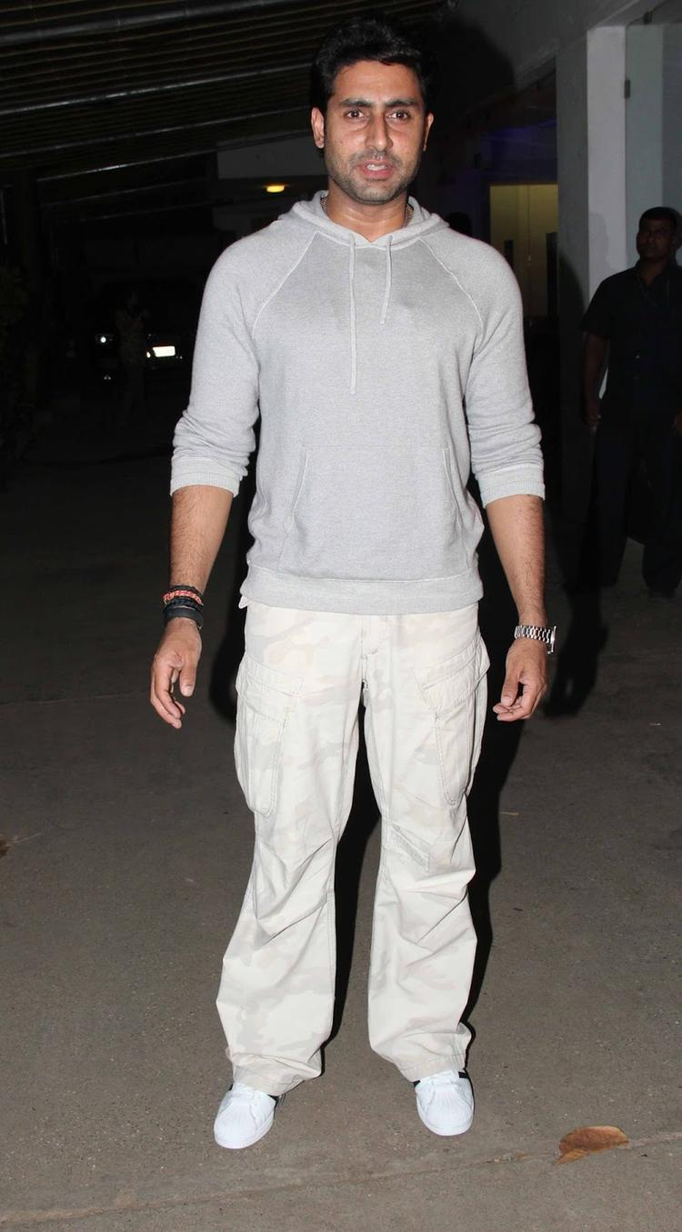 Style Icon Abhishek Bachchan The Special Screening Of Madras Cafe