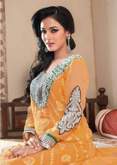 Sonal Chauhan In Designer Anarkali Suit Charming Look Photo Shoot Still