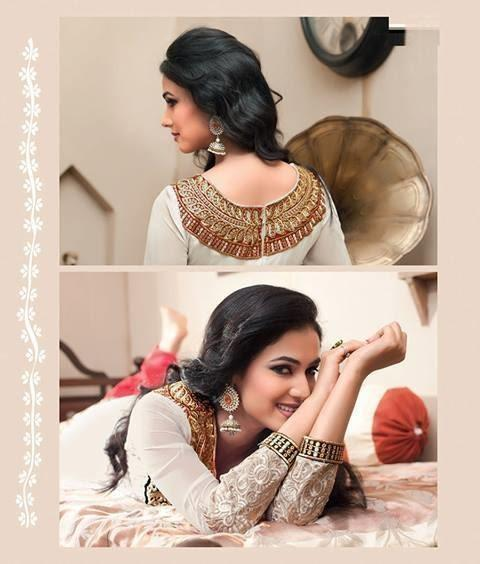 Sonal Chauhan In Designer Anarkali Suit Cool Look Photo Shoot Still