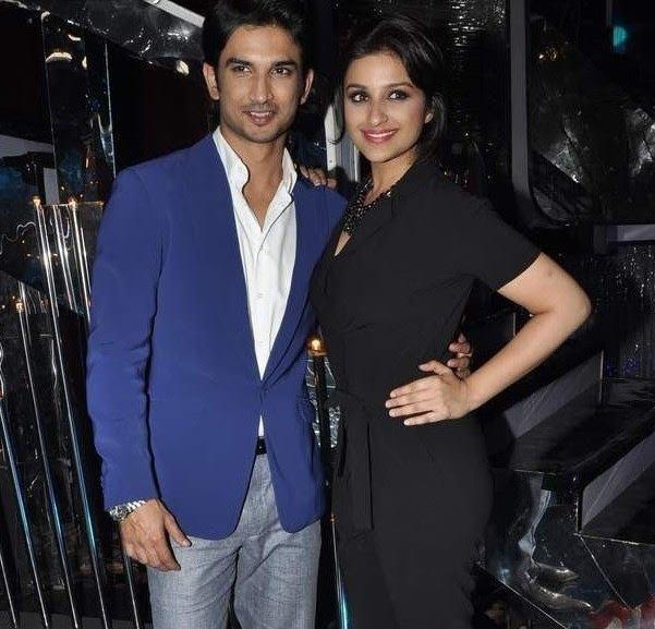 Sushant And Parineeti Posed On The Sets Of Jhalak Dikhla Jaa 6 During The Promotion Of Shuddh Desi Romance Movie