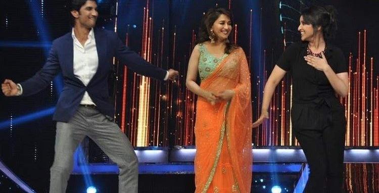 Sushant,Madhuri And Parineeti Rocked During The Promotion Of Shuddh Desi Romance Movie On The Sets Of Jhalak Dikhla Jaa 6