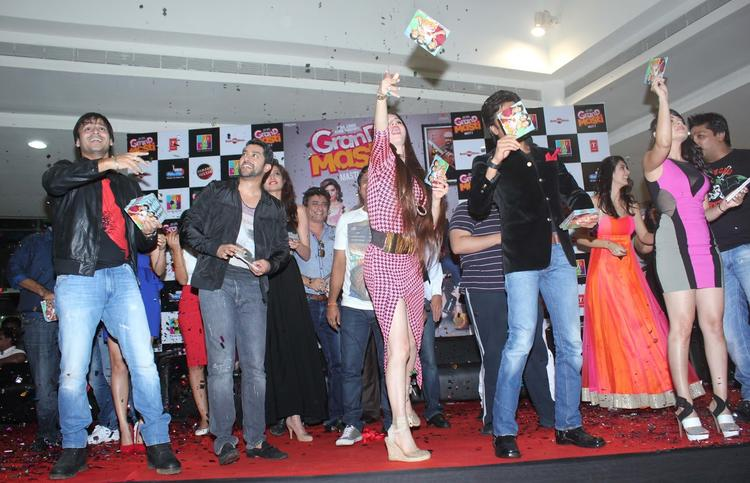 Casts Fun Still At The Audiao Launch Of Grand Masti
