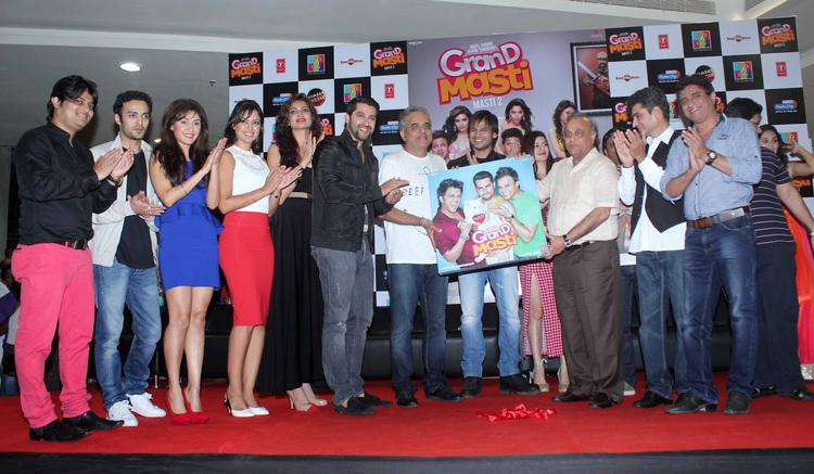 Grand Masti Audio Released At R-City Mall By Star Cast Of The Movie
