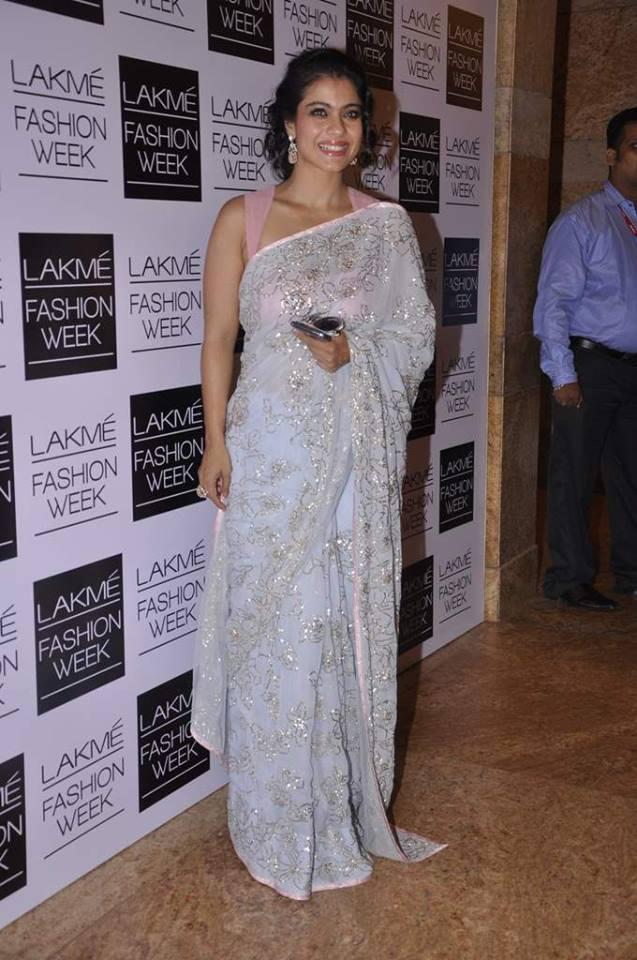 Kajol Devgan Looking Elegant In Shehla Khan Collection At LFW 2013 Day 2 Event