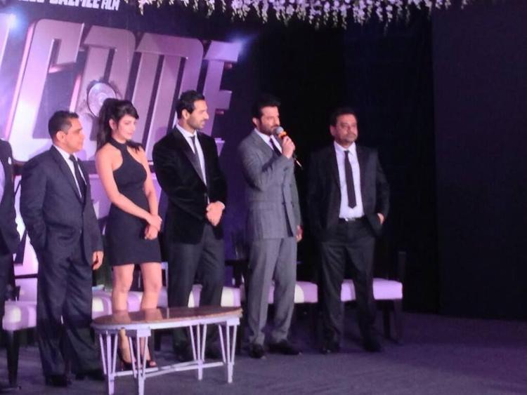 John,Nana,Anil And Shruti Announcing The Starcast Of Welcome Back Movie