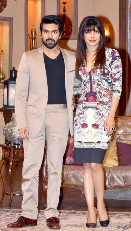 Ram Charan And Priyanka During The Promotion Of Zanjeer On The Sets Of Comedy Nights With Kapil