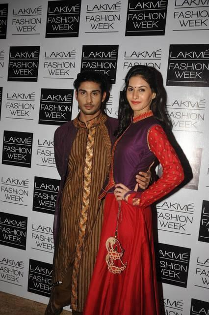 ISSAQ Stars Amyra Dastur And Prateik Spotted At LFW 2013 Day 4 Show