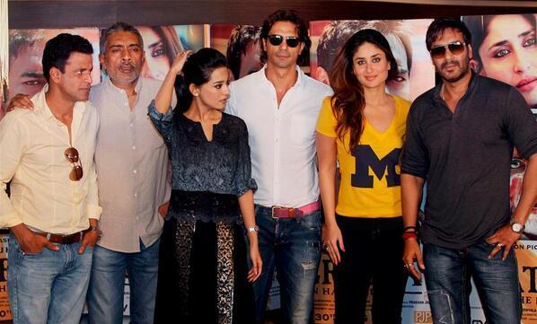 Cast And Crew  At Satyagraha Promotions In Delhi
