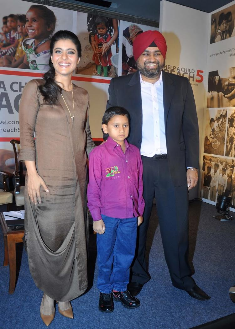 Kajol Devgan Pose For Camera At Help A Child Campaign