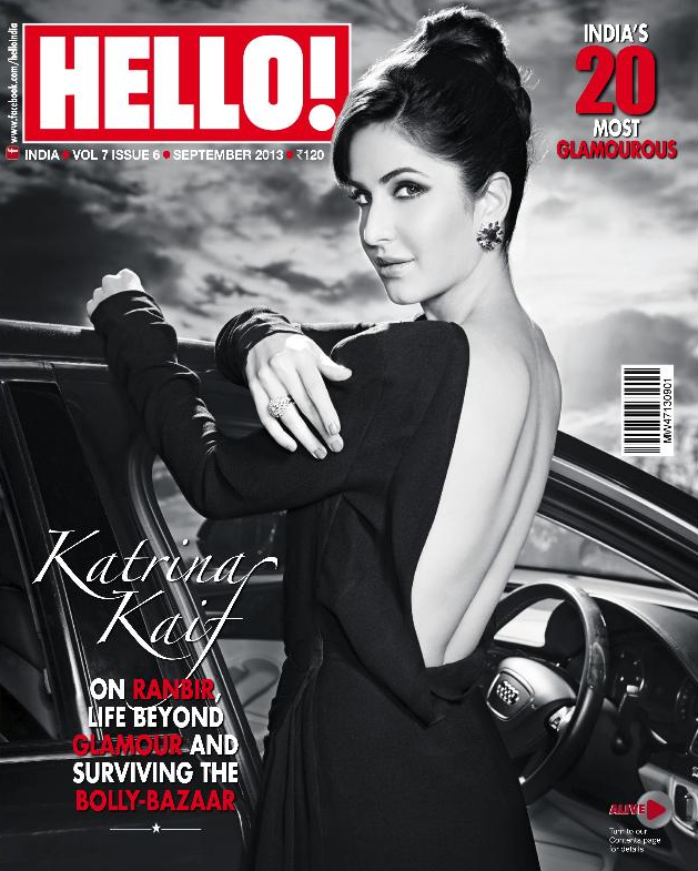 Katrina Kaif On The Cover Of Hello Indias Most Glamorous Issue September