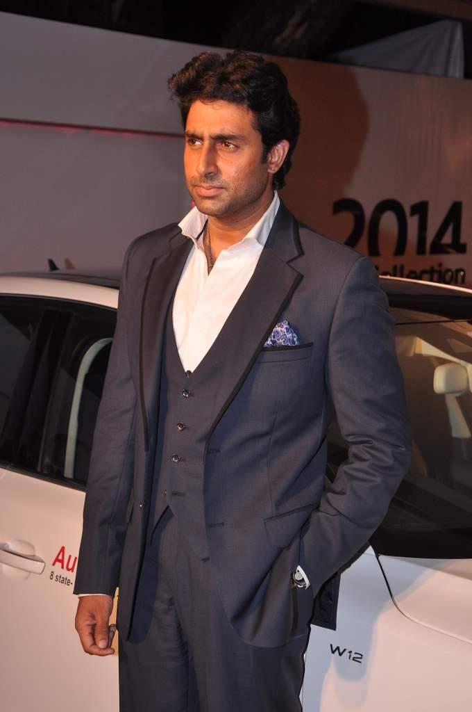Abhishek Looking Very Handsome Audi Autumn Collection 2014 Launch Event