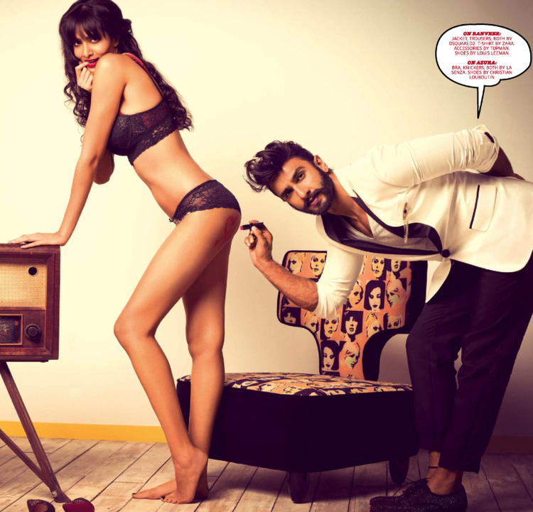 Ranveer Singh Wild Pose Shoot For GQ Magazine September 2013 Issue