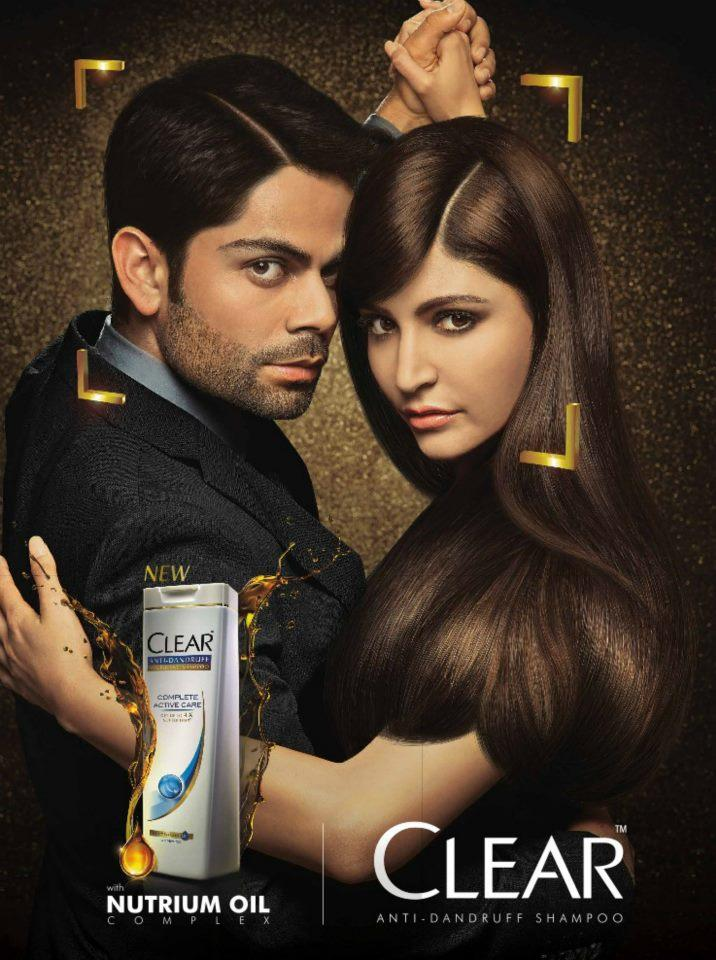 Anushka And Virat Photoshot For Clear Shampoo Commercial Ad