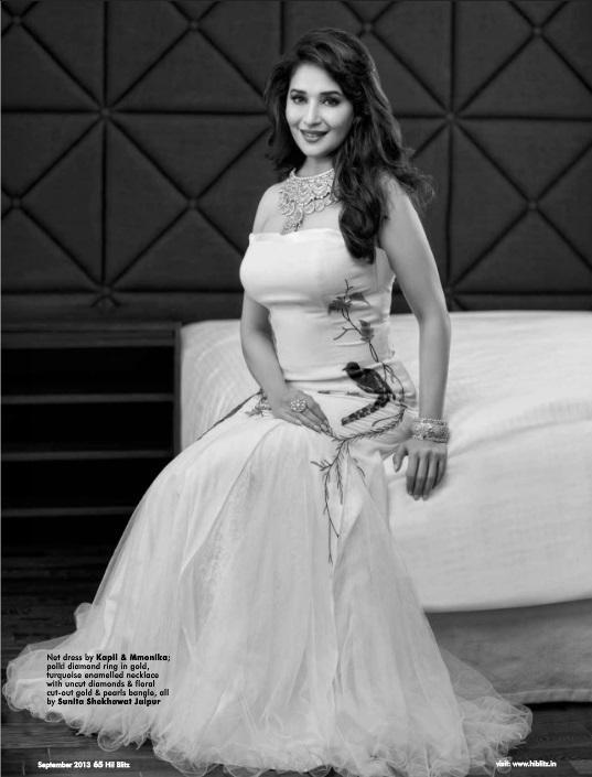 The Bollywood Evergreen Diva Madhuri Dixit Adorns The Cover Of Hi! BLITZ