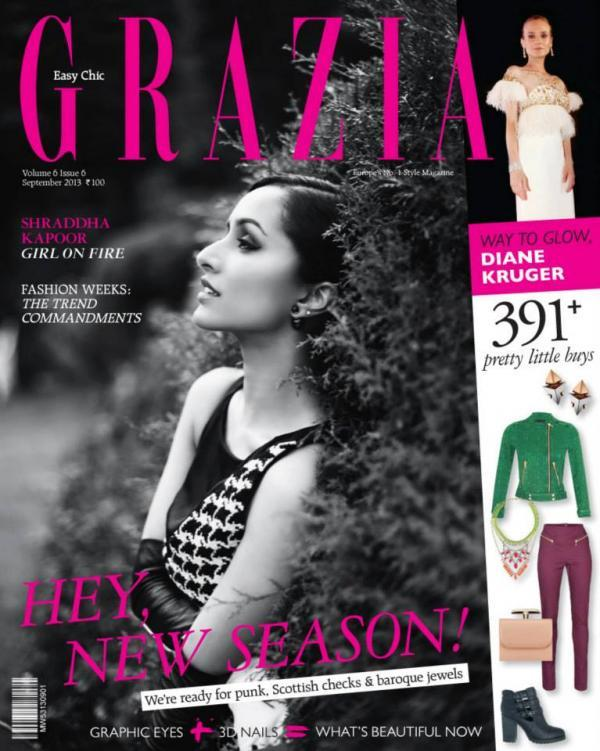 Shraddha Kapoor On The Covers Of Grazia September 2013 Issue