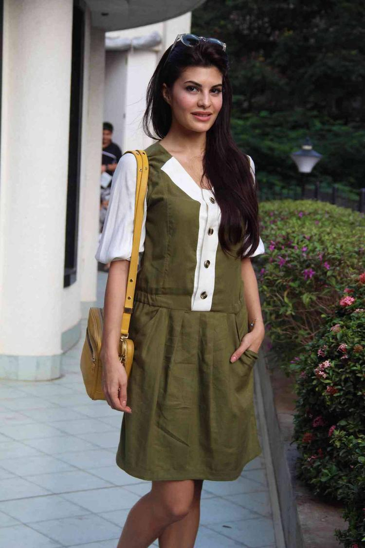 Jacqueline Looked Cute In A Back-To-School Outfit As She Showed Her Support On A Women's Safety Campaign
