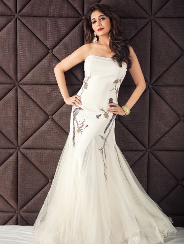 Madhuri Dixit Glowing Spicy Look In Strapless Gown For Hi! BLITZ Issue