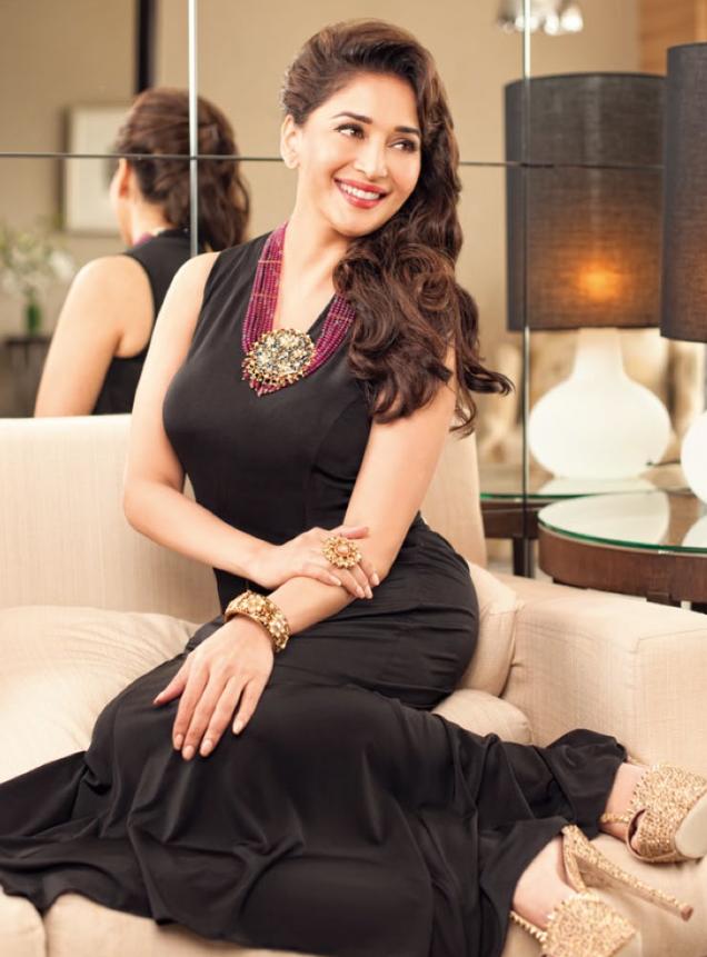Madhuri Stuuning Look Smilig Pic For Hi! BLITZ Issue 2013