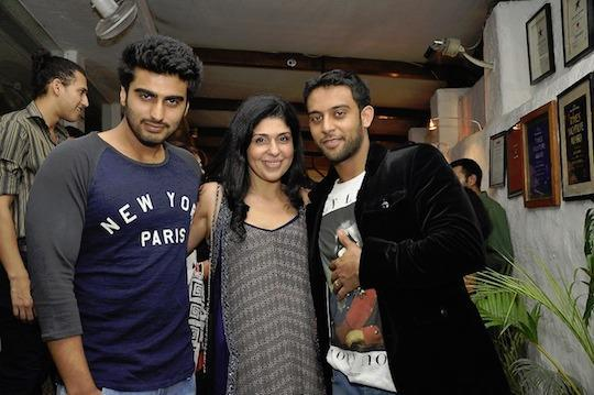 Arjun Kapoor With Anaita And Sunny Sara Posed At The Collective Style Book Green Room Launching Event