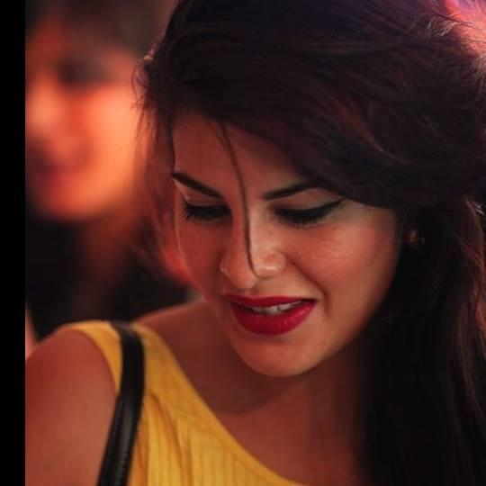 Jacqueline Fernandez Gorgeous Look In Red Lippy At The Collective Style Book Green Room Launching Event