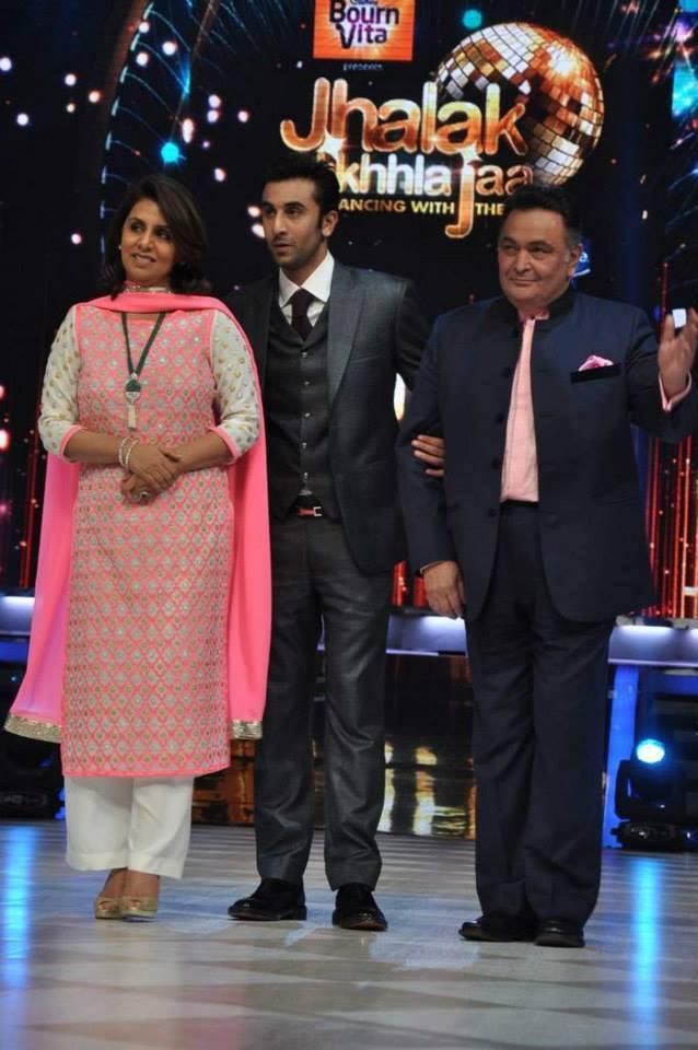 Neetu,Ranbir And Rishi Present During The Promotion Of Besharam On The Sets Of Jhalak Dikhla Jaa 6