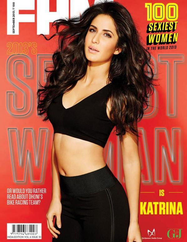 Katrina Kaif Sexy Navel Exposing Photo Shoot For Cover Of FHM India's