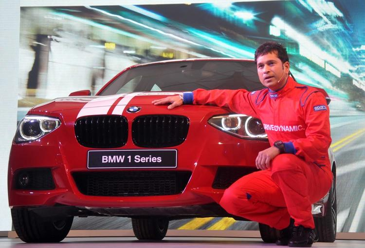 Sachin Tendulkar Posed For Camera With New Launching BMW 1 Series Car