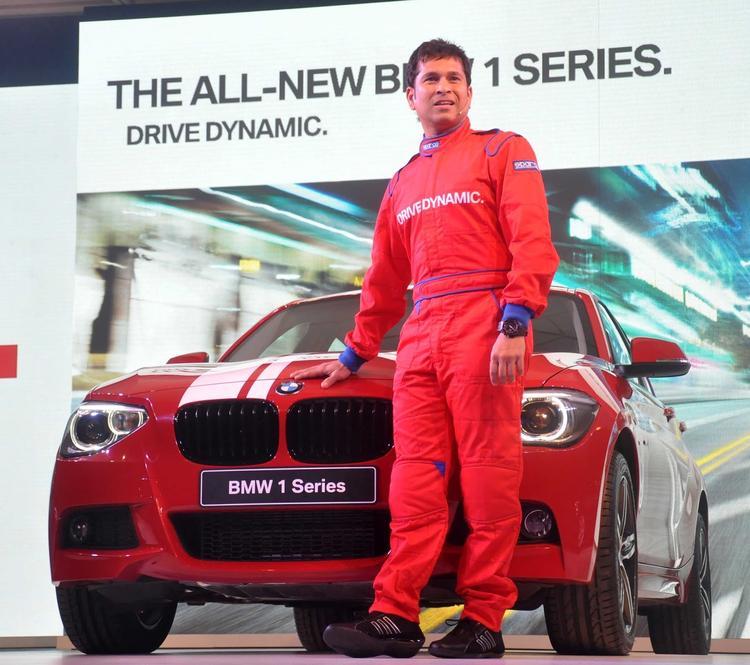 Sachin Tendulkar Unveils BMW 1 Series In Mumbai