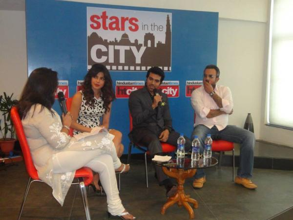 Priyanka And Ram Charan Cool Chatting During The Promotion Of Zanjeer At Hindustan Time's Stars In The City