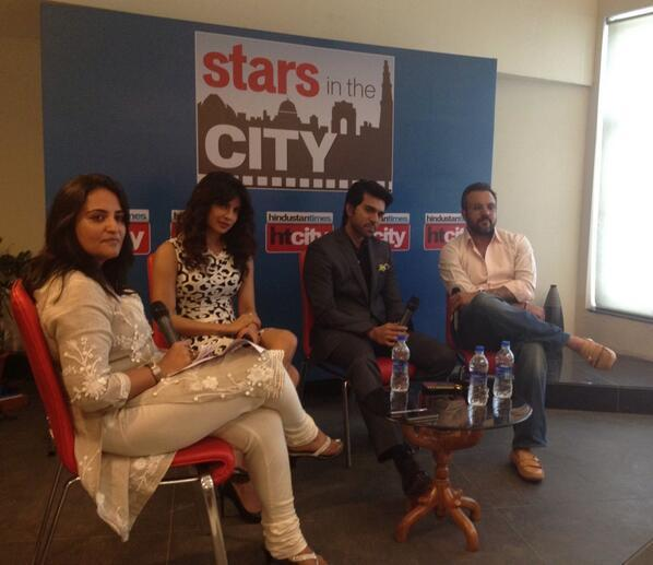 Priyanka And Ram Charan During The Promotion Of Zanjeer At Hindustan Time's Stars In The City