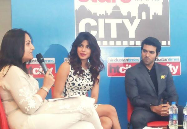 Priyanka And Ram Charan At Hindustan Time's Stars In The City For Promoting Zanjeer Movie