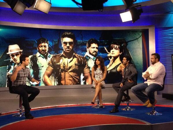 Priyanka And Ram Charan Promote Zanjeer At Aaj Tak TV Channel