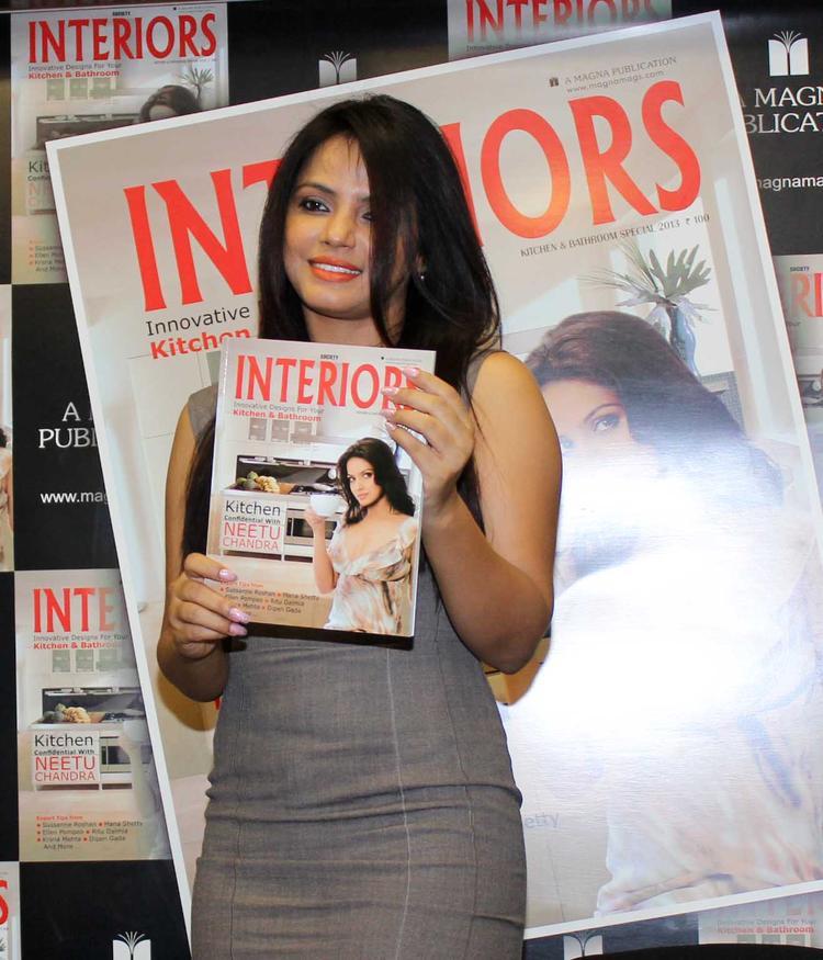 Neetu Chandra Launches The Cover Of Society Interiors Magazine September 2013 Issue