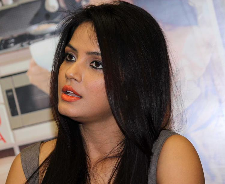 Neetu Chandra Stunning Face Look During The Launch Of Society Interiors Magazine Cover September 2013 Issue