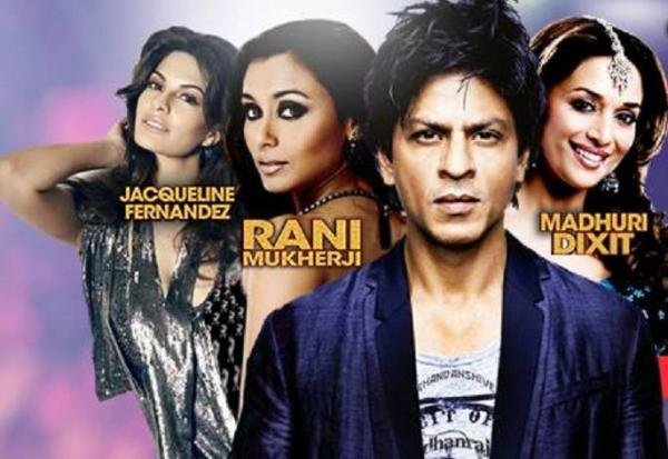 SRK,Jacqueline,Rani And Madhuri Featured On Temptation Reloaded 2013 Edition