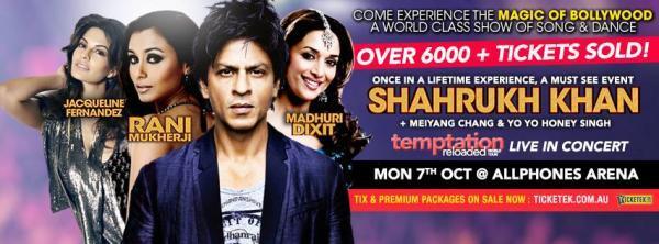 SRK,Jacqueline,Rani And Madhuri Graced On On Temptation Reloaded 2013 Edition