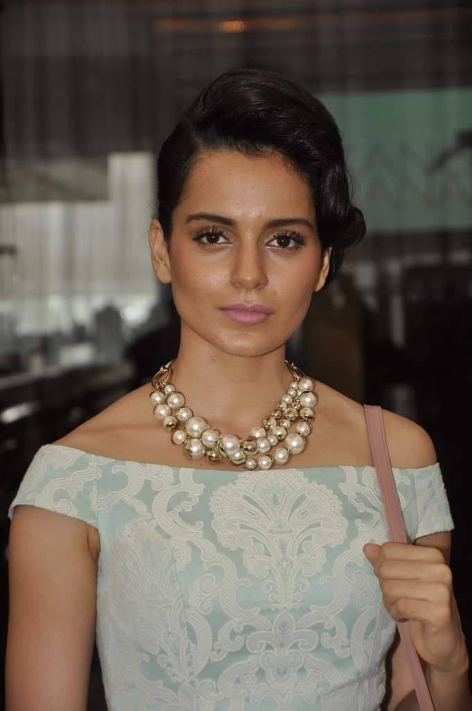 Amazing Actress Kangana Ranaut Snapped For Launches Her Website