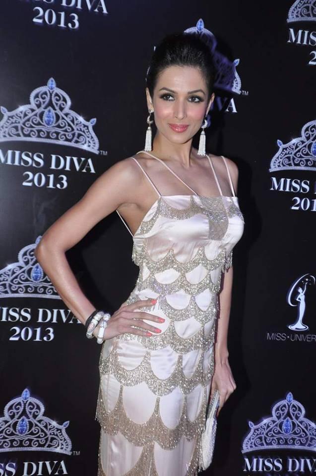 Malaika Arora Khan Hot Pose In Shehlaa At Miss Diva 2013