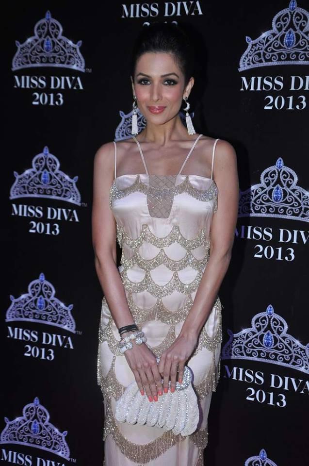 Malaika Arora Khan In Shehlaa On Red Carpet Event Of Miss Diva 2013