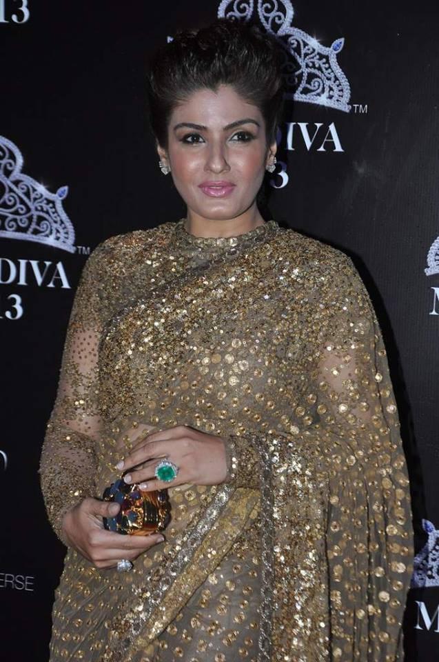 Raveena Tondon Grace The Miss Diva 2013 Contest As Judge
