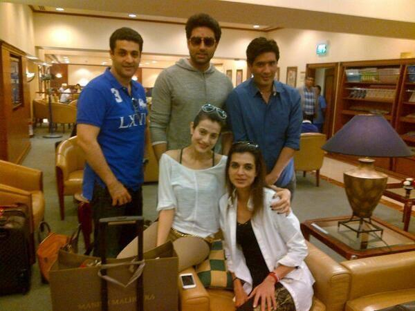 Ameesha,Abhishek,Manish And Others Spotted To Shoot Desi Magic In Dubai