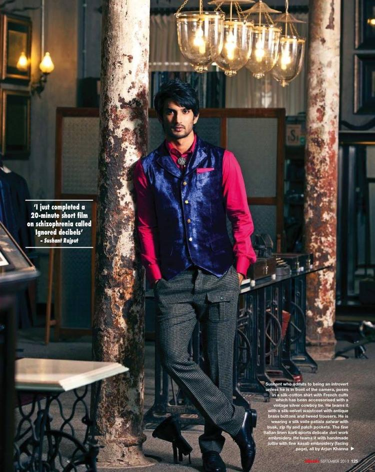 Sushant Singh Rajput Fashionable Look For HELLO! INDIA September 2013 Issue