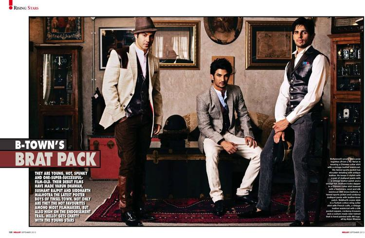 Varun,Sushant And Sidharth Featured For HELLO! INDIA September 2013 Issue