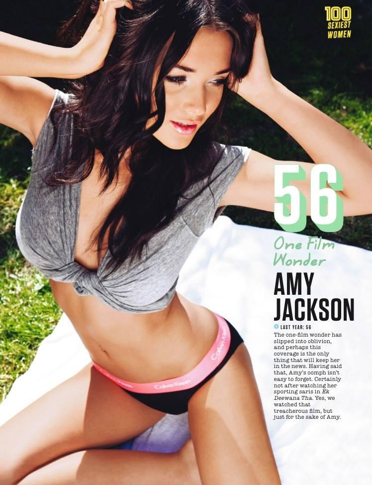 Amy Jackson Hits 56th Position In FHM Magazine Top 100 Sexiest Women On September 2013 Issue
