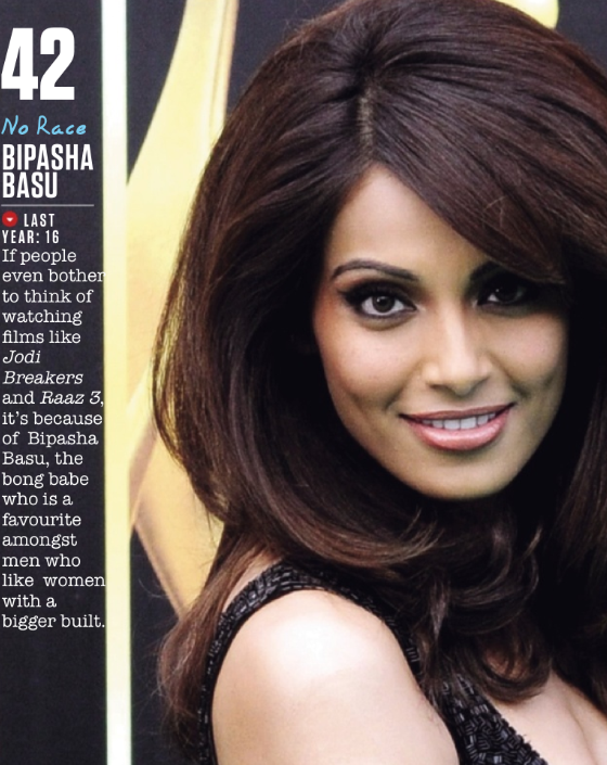Bipasha Basu Made 42nd Spot In FHM Magazine Top 100 Sexiest Women On September 2013 Issue