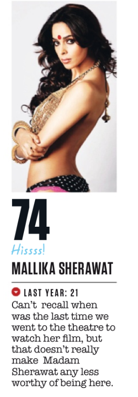 Mallika Sherawat Made 74th Spot In FHM Magazine Top 100 Sexiest Women On September 2013 Issue