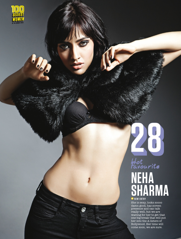 Neha Sharma Graced 28th Position In FHM Magazine Top 100 Sexiest Women On September 2013 Issue